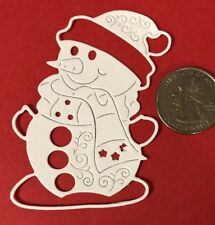 HAPPY SNOWMAN Die-Cut(6pc) Christmas•Top Hat•Scarf•Winter •Holiday•Cold•Snow•Hat