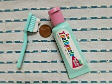 Vintage Empty Plastic Tube Doll Toothpaste And Brush