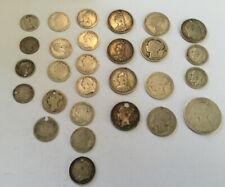 Job Lot British Silver Coins | Pre 1920 Scrap Silver 925 | 98 Grams .925