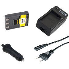 Batteria Patona + caricabatteria casa/auto per Canon Digital Ixus VII,V,V2,V3