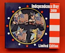 Disney 2010 Independence Day Mickey, Minnie, Goofy, Tinkerbell 4 Pin Set Le 1500