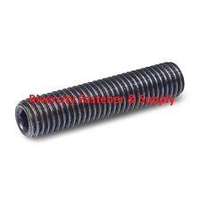 (15) M6-1.0x80 Socket Set Screw Flat Point Alloy Steel Grub Screws 6mm x 80mm