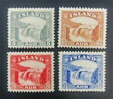 nystamps Iceland Stamp # 170/174 Mint Og H $55 J15y928