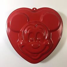 Disney Mickey Mouse Red Heart Shaped Cake Pan Mold Teflon Lined NWOT