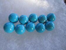 10 SLEEPING BEAUTY 10 mm AAA++ BRILLIANT BLUE TURQUOISE Beads Gemstone  NATURAL