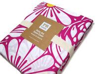 Pottery Barn Teen Cotton Pink Daisy Yellow Dot Full Queen Duvet Cover 2 Shams