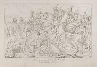 Grabado 1876: Jean Lannes, Duque De Montebello. Napoléon. Batalla de Essling