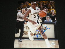 CHRIS PAUL Signed Wake Forest Basketball 8x10 Photo Autograph Clippers RARE B
