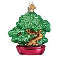 """Bonsai Tree"" (48039)X Old World Christmas Glass Ornament w/OWC Box"