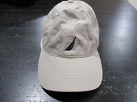 VINTAGE Nautica Strap Back Hat Cap Brown Blue Sailing Adjustable Dad Hat Men 90s