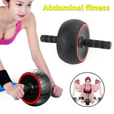Ab Roller Wheel Abdominal Fitness Gym Exercise Equipment Workout Training F11