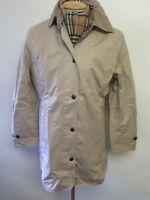 Ladies Barbour L431 Lightweight Newmarket Cotton Coat Jacket UK 14 Euro 40 Beige