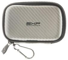 SXP Hardcase Schutz Tasche mit Karabiner in Carbon-Silber für Nokia E52