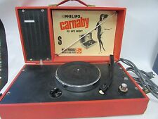 PHILLIPS CARNABY SWINGER PORTABLE RECORD PLAYER RETRO VINTAGE RESTORER