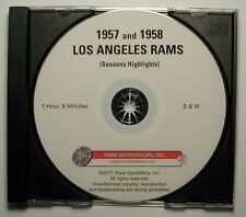 1957 and 1958 Los Angeles Rams Highlights now on DVD!