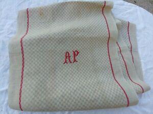 Ancien Torchon d'office pour rouleau, déco, couture, coussin ou autre, 206 cm