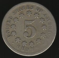 More details for 1868 u.s.a. 5 cent shield nickel coin | world coins | pennies2pounds