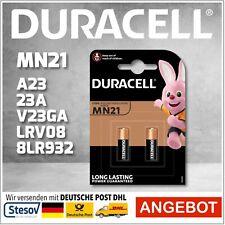 2er Alkaline Batterie Duracell 23A 12V Volt p23ga Mn21 V23GA A23 A23G Blister