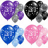 Happy 21st Birthday Party Celebration Latex Printed Balloons Decorations