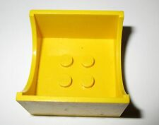Lego Fabuland 4461 Jaune Yellow Container Box 4x4x2with Hollowed-Out Semi-Circle