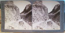 Vintage Stereoview YELLOWSTONE NATL PARK Mammoth GOLDEN GATE Underwood U&U 1904