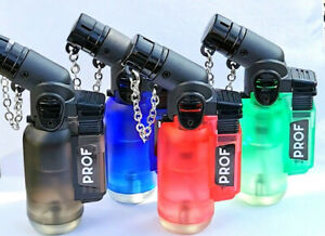 PIPE LIGHTER PROF ANGLED Jet Flame Windproof Blue Flame Refillable Tank NEW