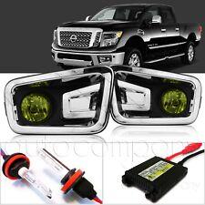For 2016-2019 Nissan Titan XD Fog Lights w/Wiring Kit & HID Kit - Yellow
