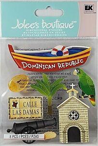 Dominican Republic Jolee's 3D Stickers