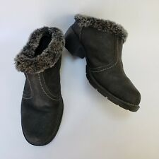Sporto Womens Shoes Clogs Booties Heels Faux Fur Black Emeline Size US 8 W