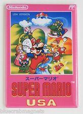 Super Mario Bros USA FRIDGE MAGNET (2 x 3 inches) video game box famicom nes