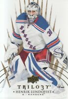 2014-15 Upper Deck Trilogy Hockey #33 Henrik Lundqvist New York Rangers