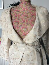 Gina Bacconi  Beige Gold Skirt Suit Pristine S  12 14 Away