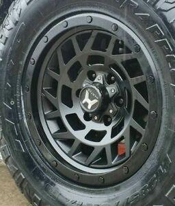 JEEP 17 inch Wheels PCD 5x127 Size 17x8.5 HARTES METAL MONSTER Satin Black