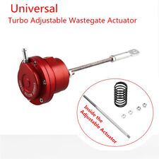 Aluminum Alloy Turbo Adjustable Wastegate Actuator & Rod Universal