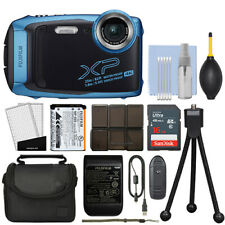 Fujifilm FinePix XP140 16.4MP 4K Digital Camera Sky Blue + 16GB Kit