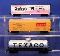 Lot of Advertising Freight Cars / Vintage Tyco HO Scale RTR Cars