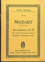 Mozart : Divertimento No. 15  B dur K.V. 287 ~ Taschenpartitur