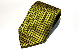 Ermenegildo Zegna Mens Silk Necktie Gold Tie