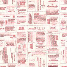 MODA Fabric ~ MAMA SAID SEW VOLUME II ~ Sweetwater (5610 11) Red - by 1/2 yard