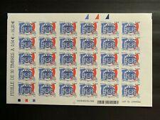 Feuille timbres France 2007 neuf YT 117 (4029A). Cour des Comptes. Autoadhésifs