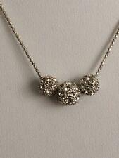 Swarovski Silver Tone Crystal Necklace # 331