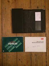DAIHATSU TERIOS Proprietari Manuale Manuale Pack con libro di servizio e Dealer Wallet
