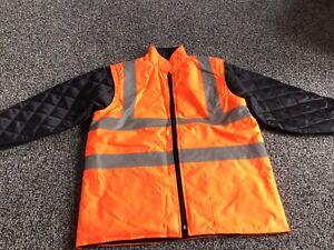 BNWOT Hi-viz Jacket - With Detachable Sleeves - Small