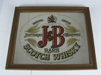 Vintage J & B Rare Scotch Whiskey Justerini Brooks Mirrored Advertising Pub Sign