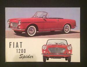 Vintage Rare Sales Brochure Fiat Spider Roadster Classic 1200