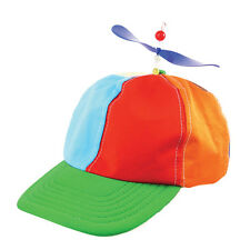 Adult Helicopter Rainbow Hat School Boy Cap Fancy Dress Costume Accessory