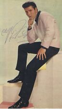 Cliff Richard - English Pop Legend - I/P  Signed Colour Pop Magazine Picture..