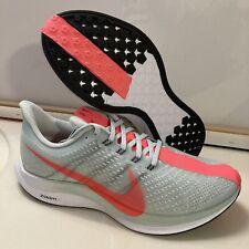 Nike Air Zoom Pegasus Turbo Shoes AJ4114 060 Ghost Grey Hot Punch Sz 8