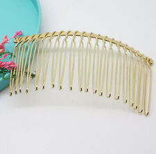 75X37mm Wholesale Metal Hair Clips Side Combs Pin Barrettes for Ladies Craft