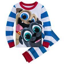 Disney Store BINGO & ROLLY PJ PALS SET FOR KIDS Pajamas Puppy Dog Pals SIZE 4